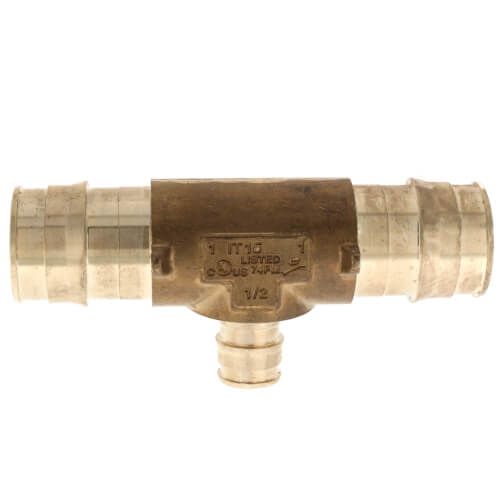 """1"""" x 1"""" x 1/2"""" ProPEX Reducing Tee (Lead Free Brass) Product Image"""