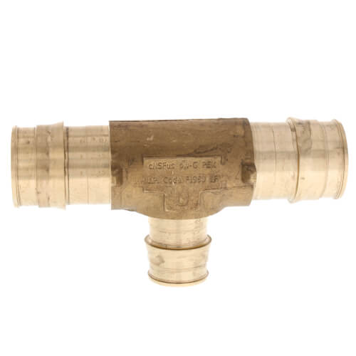 """1"""" x 1"""" x 3/4"""" ProPEX Reducing Tee (Lead Free Brass) Product Image"""