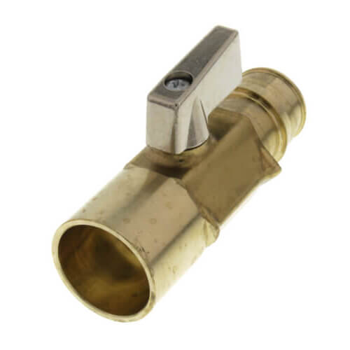 """3/4"""" ProPEX x 3/4"""" Copper Adapter Brass Ball Valve (Lead Free) Product Image"""