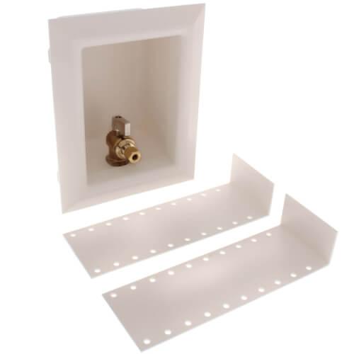 "ProPEX Ice Maker Box w/ Support Brackets, 1/2"" (LF Brass) Valve Product Image"