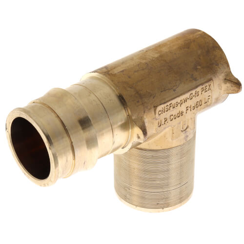 """ProPEX LF Brass Fire Sprinkler Adapter Elbow, 1"""" PEX x 1/2"""" FNPT Product Image"""