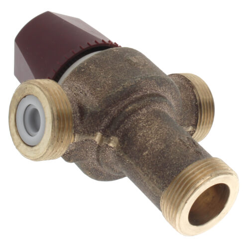"1"" PEX Union HydroGuard Thermostatic Tempering Valve (90°- 160°F) Product Image"