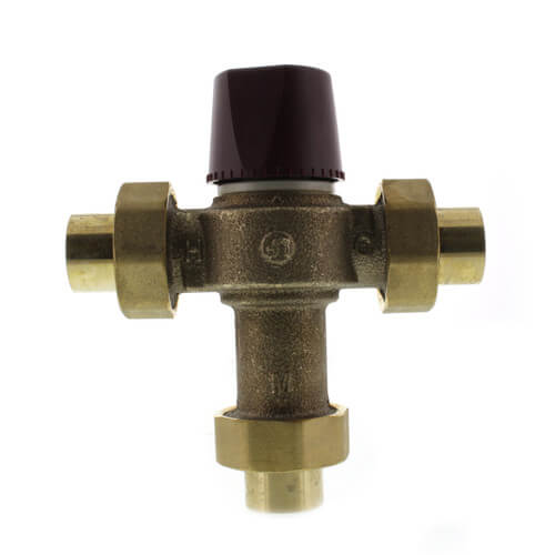 """3/4"""" Union Sweat HydroGuard Thermostatic Tempering Valve (60°- 120°F) Product Image"""
