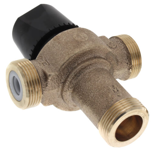 "3/4"" Union Sweat HydroGuard Thermostatic Tempering Valve (80°- 120°F) Product Image"