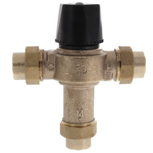 """1/2"""" FNPT Union HydroGuard Thermostatic Tempering Valve (80°- 120°F) Product Image"""