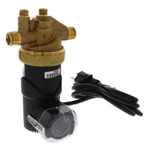 "Autocirc Circulator w/ Built-In Fixed Thermostat & Timer, Lead Free Brass (1/2"" NPT) Product Image"