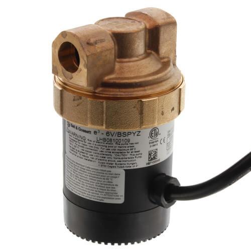 """Ecocirc Circulator w/ Multi-Speed & Plug, Lead Free Brass (1/2"""" Sweat) Product Image"""