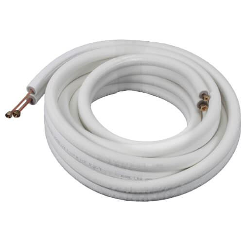 "1/4"" LL x 3/8"" SL Mini Split Refrigerant Line Set w/ Flare Nuts, 1/2"" Insulation (100 Ft.) Product Image"