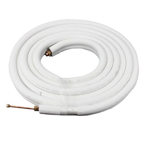 "1/4"" LL x 1/2"" SL Mini Split Refrigerant Line Set w/ Flare Nuts, 1/2"" Insulation (30 Ft.) Product Image"