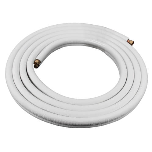 "3/8"" LL x 5/8"" SL Mini Split Refrigerant Line Set w/ Flare Nuts, 1/2"" Insulation (65 Ft.) Product Image"