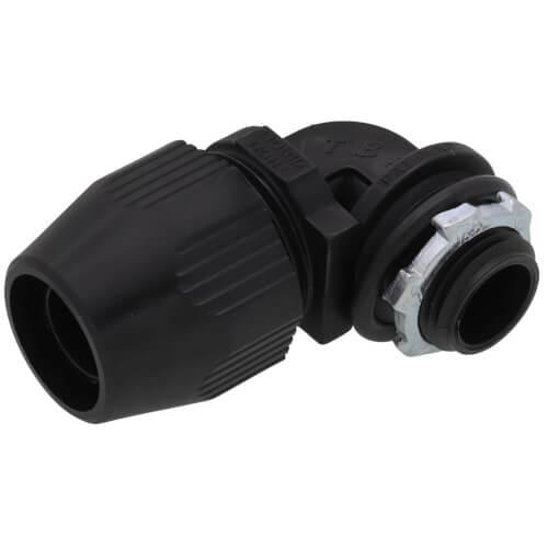 "1/2"" 90° Non-Metallic Liquid Tight Bullet Connector Product Image"