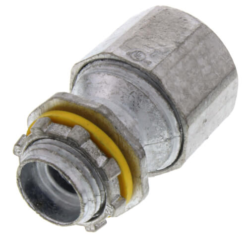 "1/2"" Zinc Liquid Tight Fitting for PVC Jacketed MC Cable and Teck 90 Cable Product Image"