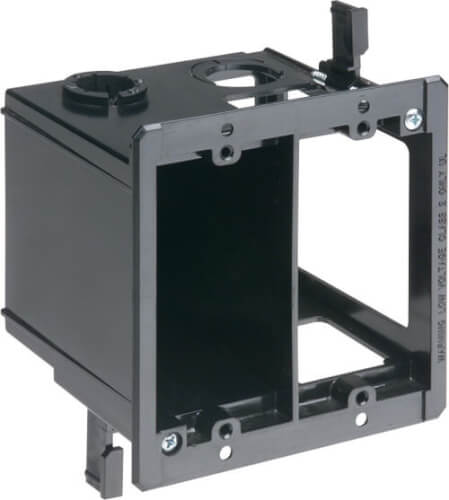 2-Gang Power and Low Voltage Box for Existing Construction (Black) Product Image