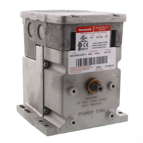 24V Non-Spring Return Foot Mounted Actuator with 150 lb-in. torque on