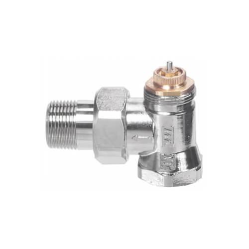 """1/2"""" Threaded x 1/2"""" Male Union Vertical Angle Valve with Straight Nipple (9000183) Product Image"""