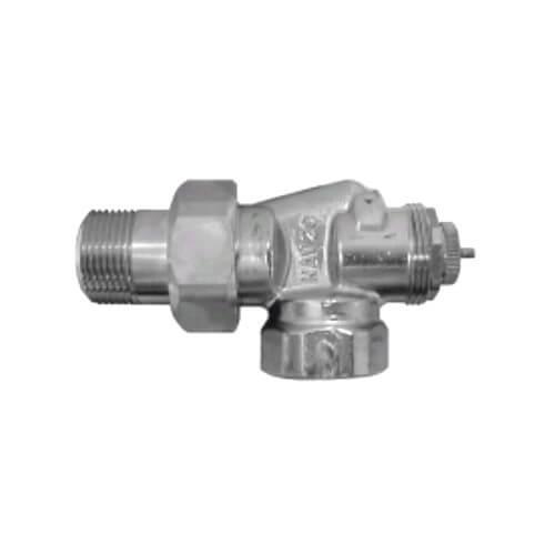 "1/2"" Threaded x 1/2"" Male Union Horizontal Angle Valve with Straight Nipple (9000179) Product Image"