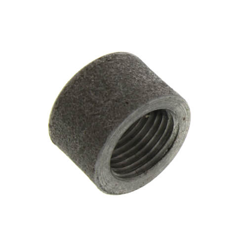 """6"""" Black Merchant Half Coupling Taper Tapped Product Image"""