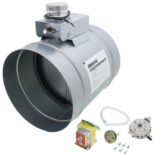 "8"" Universal Auto Make-Up Air Damper w/ Pressure Sensor Kit Product Image"