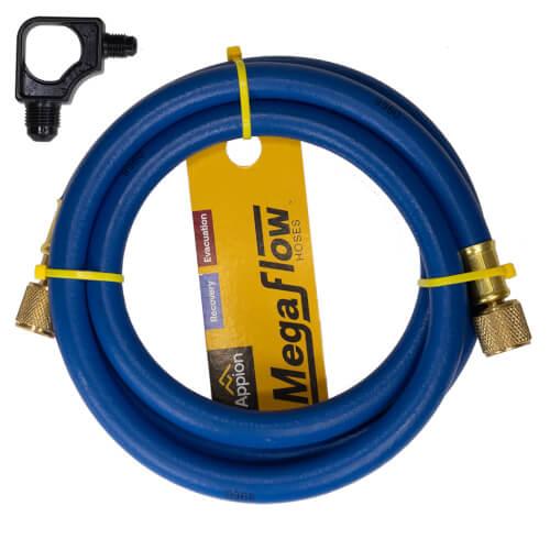"3/8"" MegaFlow High-Speed Dual-Purpose Hose, 6', 3/8"" x 1/4"" Flare (Blue) Product Image"
