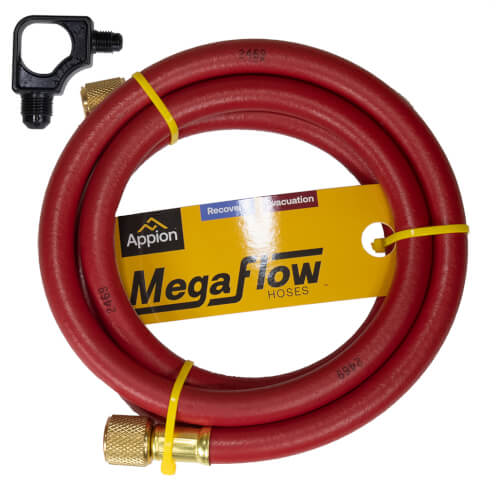 "3/8"" MegaFlow High-Speed Dual-Purpose Hose, 6', 3/8"" x 1/4"" Flare (Red) Product Image"