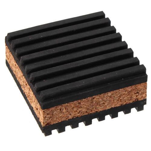"Rubber/Cork Anti-Vibration Pad, 2"" x 2"" x 7/8"" Product Image"