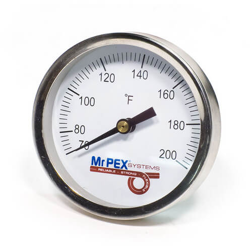 """Strap-On Pipe Thermometer for 3/8""""-1.5"""" Pipe (0-248F) Product Image"""