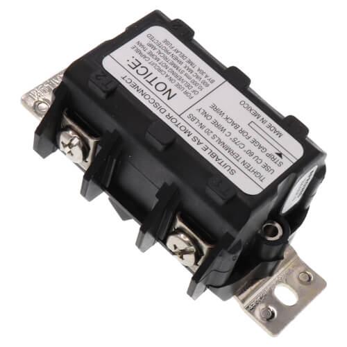 2P, 1-Phase, Black Manual Motor Toggle Switch, 30A (600V) Product Image