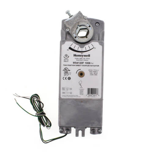 Ms4120f1006 Honeywell Two Position Der Actuator W. Two Position Der Actuator W Spring Return For Fire And Smoke Applications 175 Lb. Wiring. Honeywell Ms7520 Actuator Wiring Diagram At Scoala.co