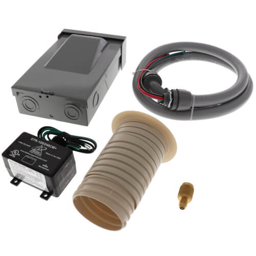 """Mini Split Kit (Whip 1/2"""" x 4', Disconnect 60A Non Fused, Surge Protector ICM516, Wall Sleeve & Fitting) Product Image"""