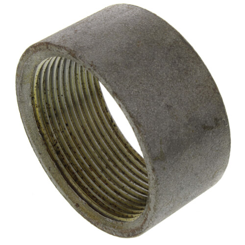 "2-1/2"" Black Merchant Half Coupling Taper Tapped Product Image"