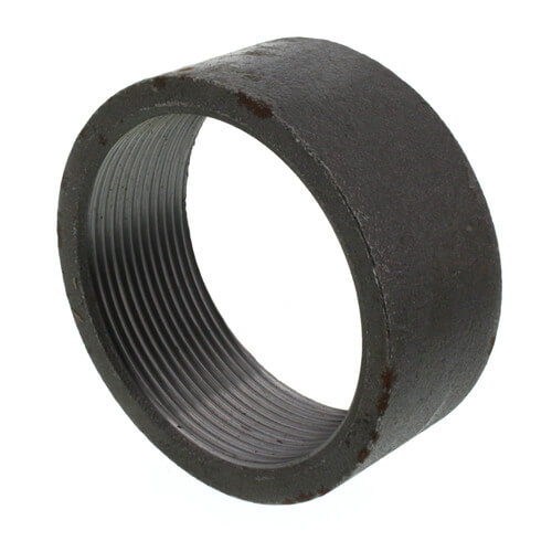 """3"""" Black Merchant Half Coupling Taper Tapped Product Image"""