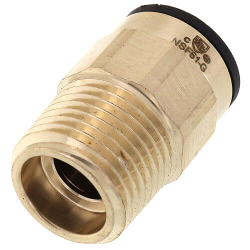 """1/2"""" CTS x 3/4"""" NPT ProLock Brass Male Adapter Product Image"""