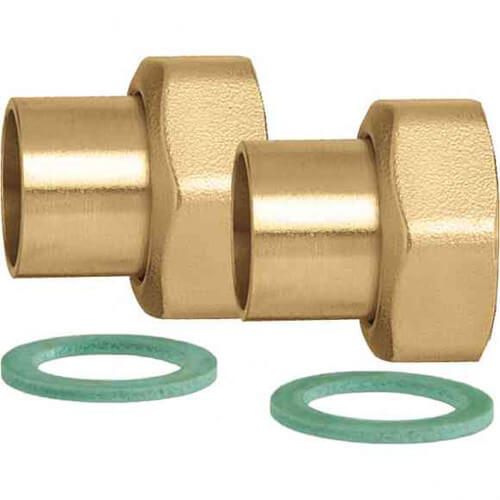 """3/4"""" Sweat Fitting Kit w/ 1"""" Union Nuts, Washers & Tailpieces (Bag of 2) Product Image"""