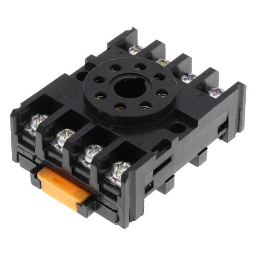 8-Pin Octal Socket Wiring Base with Din Rail/Surface Mounting, 10 Amp (300V) Product Image