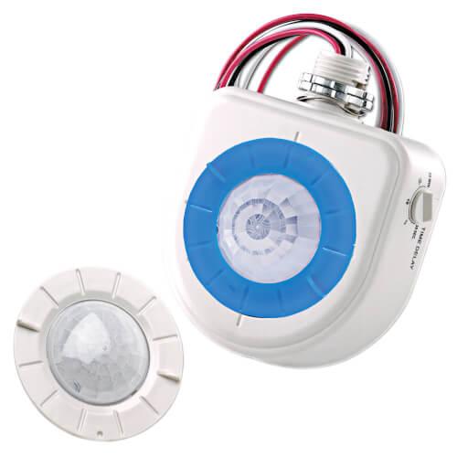 PIR 360 Degree Occupancy Sensor w/ 3 Interchangeable Lenses: High-Bay, Fixture Mount & Aisle way - White Product Image