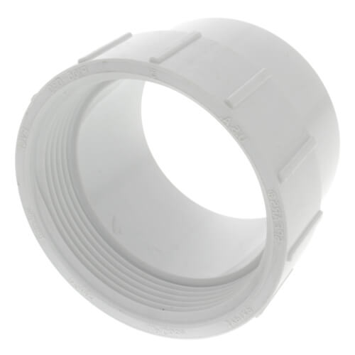 "3"" PVC DWV Fitting Cleanout Adapter Product Image"