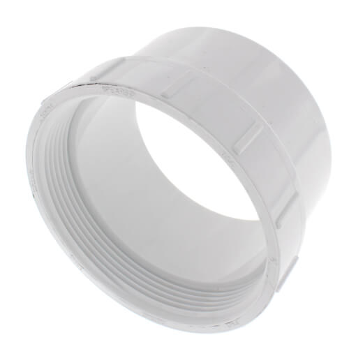 """4"""" PVC DWV Fitting Cleanout Adapter Product Image"""