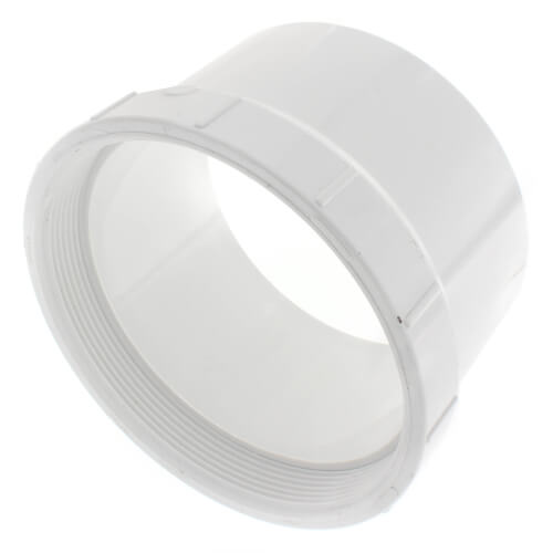 """6"""" PVC DWV Fitting Cleanout Adapter Product Image"""