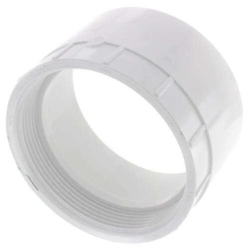 """4"""" PVC DWV Female Cleanout Adapter Product Image"""