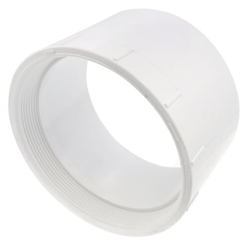 """6"""" PVC DWV Female Cleanout Adapter Product Image"""
