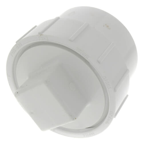 """3"""" PVC DWV Fitting Cleanout Adapter w/ Plug Product Image"""