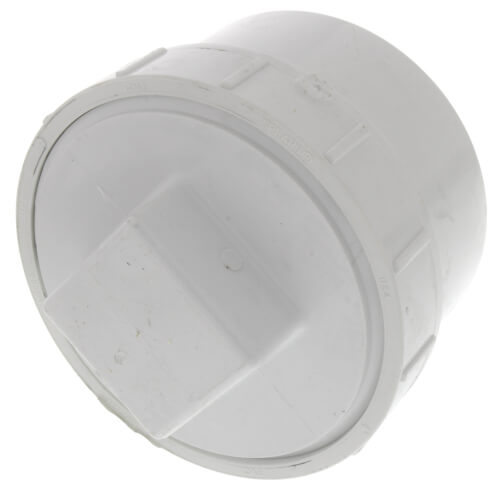 """4"""" PVC DWV Fitting Cleanout Adapter w/ Plug Product Image"""