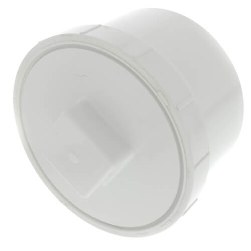 """6"""" PVC DWV Fitting Cleanout Adapter w/ Plug Product Image"""