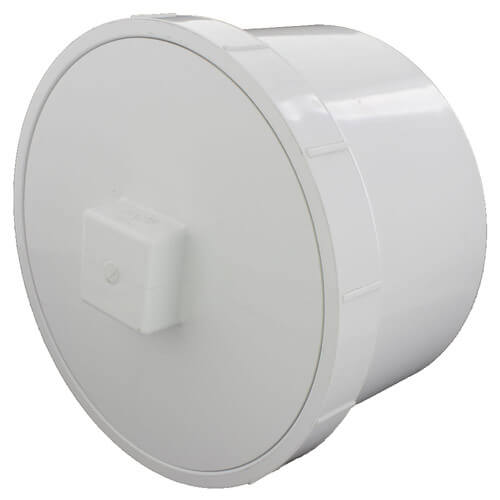 """8"""" PVC DWV Fitting Cleanout Adapter w/ Plug Product Image"""