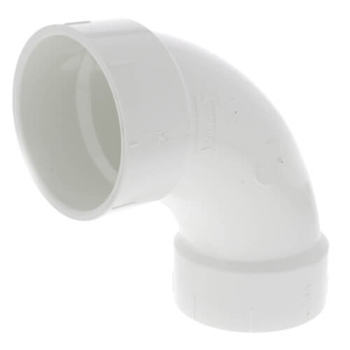 "3"" PVC DWV Long Turn 90° Elbow Product Image"