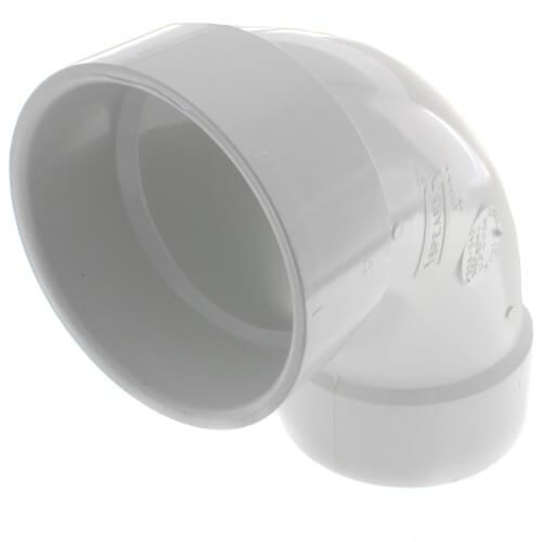 "4"" PVC DWV Long Turn 90° Elbow Product Image"