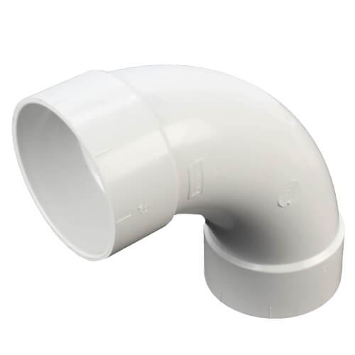 "6"" PVC DWV Long Turn 90° Elbow Product Image"