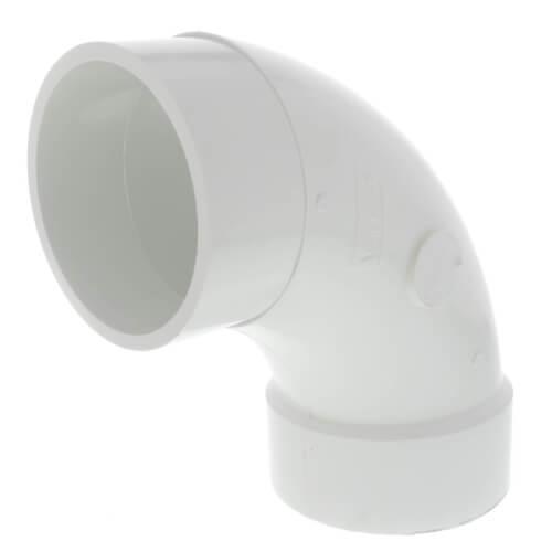 "4"" PVC DWV Long Sweep 90° Street Elbow Product Image"