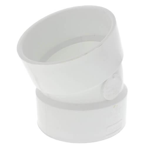 "4"" PVC DWV 22.5° Elbow Product Image"