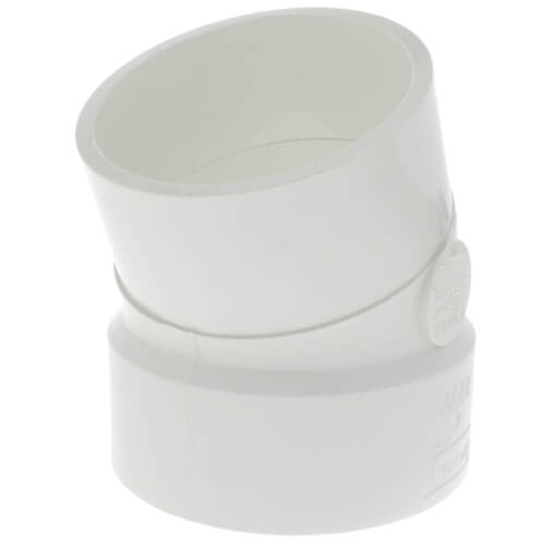 "4"" PVC DWV 22.5° Street Elbow Product Image"